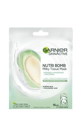 Garnier Nutri Bomb Milky Face Sheet Mask Almond Milk and Hyaluronic Acid for Nourished & Restored Skin