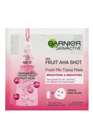 Garnier Fresh-Mix Smoothing Face Sheet Mask Fruit AHA for Fine lines and Dull Skin 33g