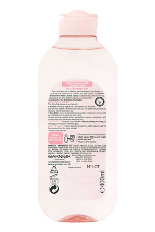 Garnier Micellar Rose Water Cleanse & Glow 400ml
