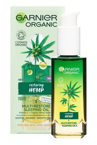Garnier Organic Hemp Multi-Restore Facial Sleeping Oil 30ml