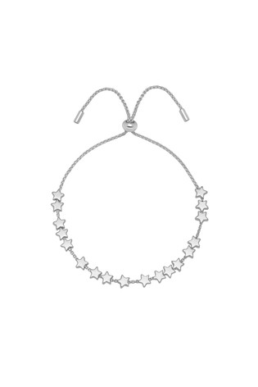 Estella Bartlett Silver Stars So Bright Chain Slider Bracelet