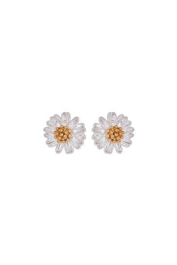 Estella Bartlett Silver Mini Wildflower Earrings