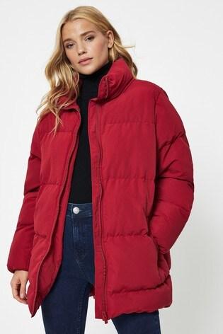 Vila Red Oversized Padded Jacket