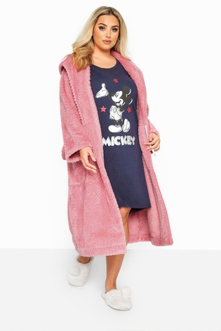 Yours Pink Curve Honeycomb Robe