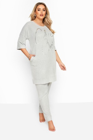 Yours Grey Curve Soft Touch Lounge Pant
