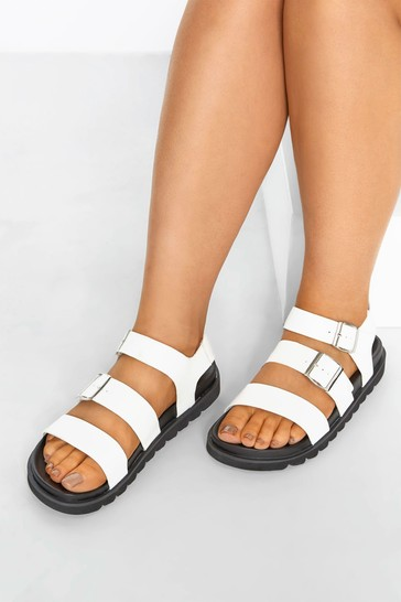 Yours Extra Wide Fit Footbed Buckle Sandals