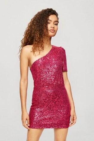 Miss Selfridge 1 Shoulder Mini Dress
