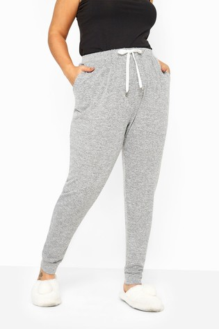 Yours Grey Curve Marl Jersey Lounge Pants