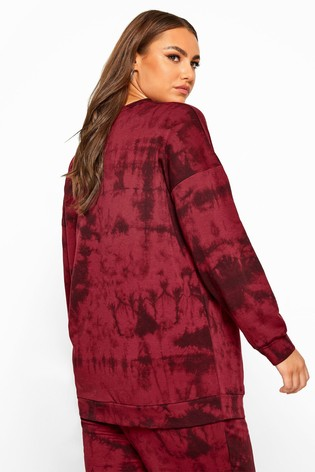 Yours Red Curve Limited Collection Tie Dye Sweatshirt
