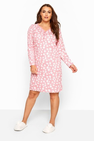 Yours Curve LS Daisy Placket Nightdress