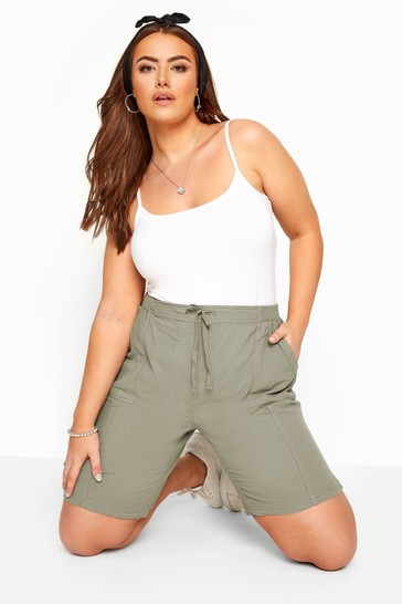 Yours Curve Green Cool Short