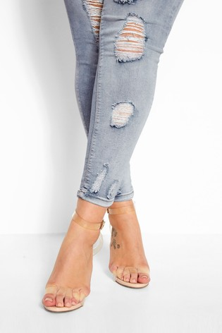 Yours Blue Jenny Extreme Distressed Jeans