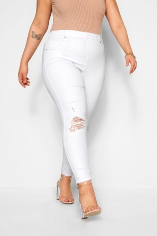 Yours Curve Jenny 28 Rip Knee Jegging