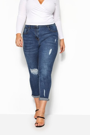 Yours Blue Curve Mom Jean