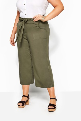 Yours Curve Belted Cropped Trouser