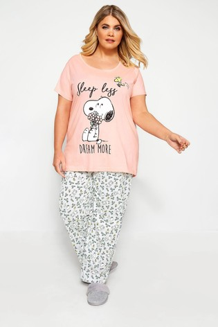 Yours Curve Snoopy PJ Set