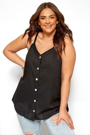 Yours Curve Button Front Cami