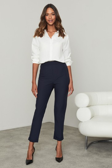 Lipsy Navy Regular Tapered Trousers