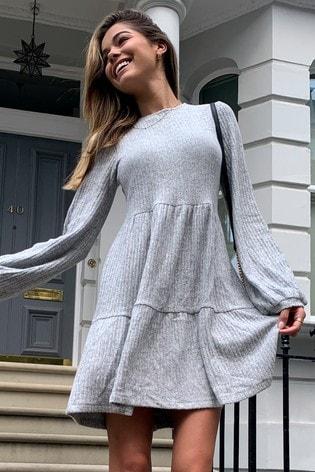 Lipsy Grey Smock Dress