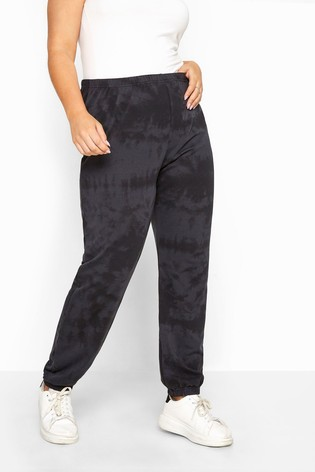 Yours Grey Limited Collection Tie Dye Joggers