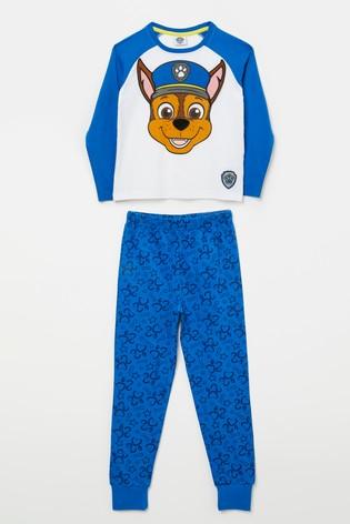 Kid Genius Blue Paw Patrol Long Sleeve Character Pj Set
