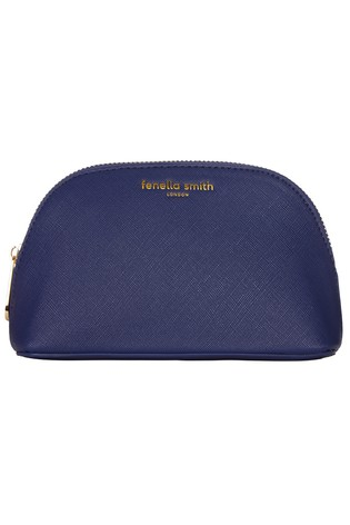 Fenella Smith Navy Oyster Cosmetic Case