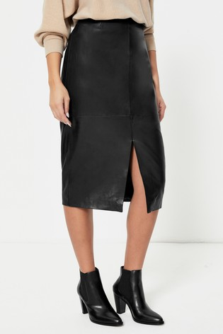 Urban Code Leather Midi Skirt