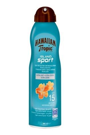 Hawaiian Tropic Island Sport Sun Protection Continuous Spray SPF 15 220ml