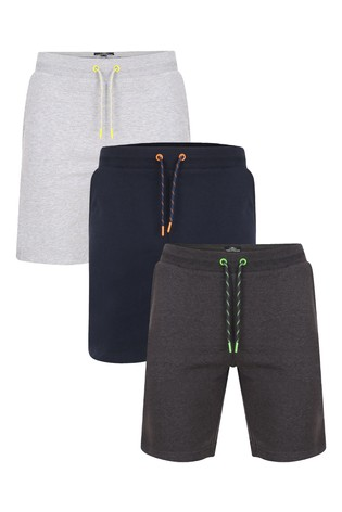 Threadbare Fleece Shorts Pack of 3