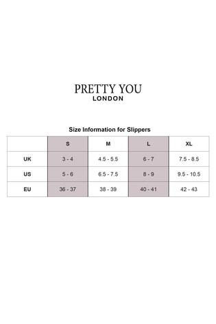 Pretty You London Cream Dora Faux Fur Slider With Jewel Trim