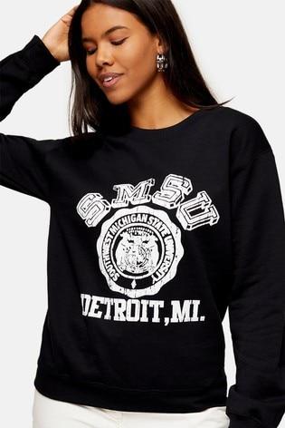 Topshop College Sweatshirt