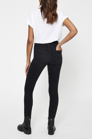 Topshop Black Short Leg 5 Pocket Skinny Jean