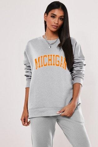 Missguided Michegan Graphic Sweatshirt