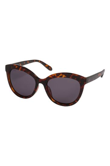 PILGRIM Brown Tulia Sunglasses