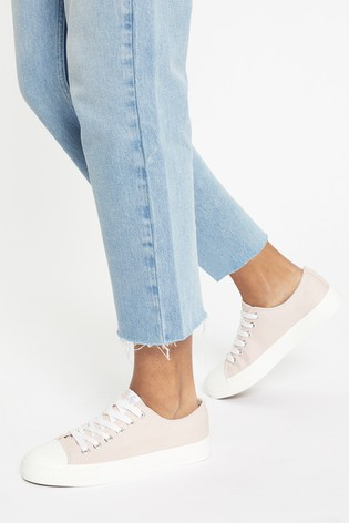 Lipsy Pink Regular Fit Low Top Canvas Trainer