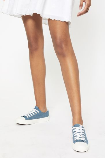 Lipsy Blue Regular Fit Low Top Canvas Trainer
