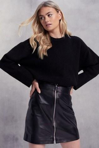 Lab Leather Mini Skirt