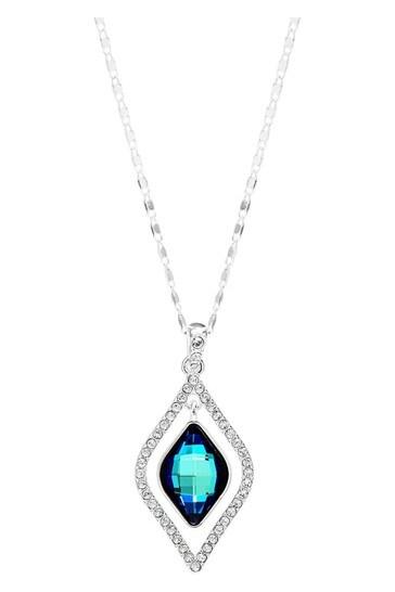 Jon Richard Silver Plated Blue Frame Necklace