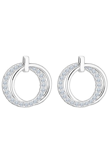 Simply Silver Sterling Silver 925 Cubic Zirconia Polished Stud Earrings