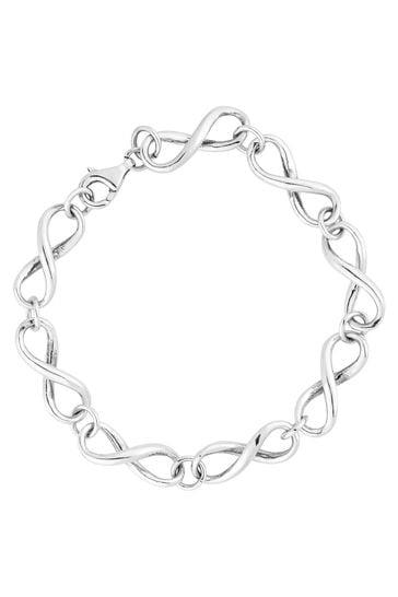 Simply Silver Sterling Silver 925 Infinity Link Bracelet