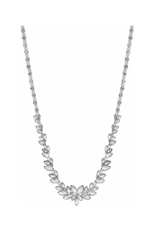 Mood Silver Plated Leaf Stone Allway Necklace