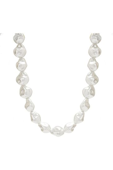 Mood Gold Plated Statement Baroque Pearl Necklace