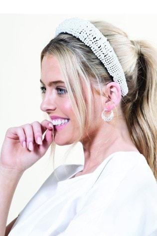 Mood Pearl Fabric Statement Headband
