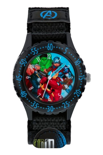 Peers Hardy Black Avengers Kids Watch