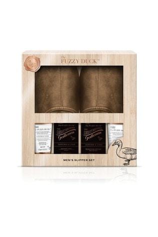 Baylis & Harding The Fuzzy Duck Men's Ginger & Lime Slipper Set