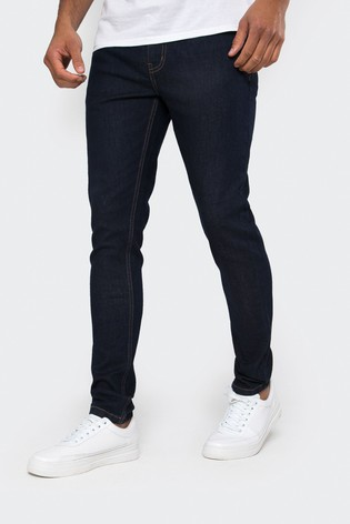 Threadbare Navy Super Skinny Jeans With Stretch