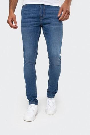 Threadbare Blue Super Skinny Jeans With Stretch