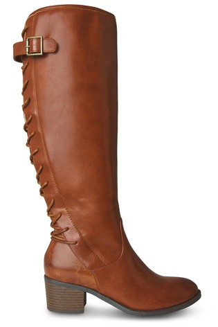 Joe Browns Brown The Latest Lace Back Boots