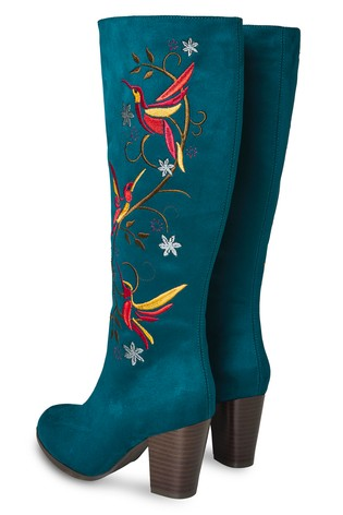 Joe Browns Paradise Birds Embroidered Boots