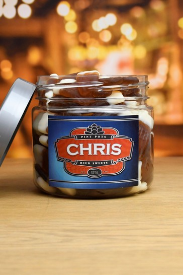 Personalised Small Pint Pots Sweet Jar By Great Gifts